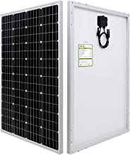 HQST 100 Watt 12 Volt Monocrystalline Solar Panel (New Edition)