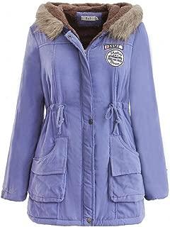 Creazrise Womens Military Hooded Warm Winter Faux Fur Lined Parkas Anroaks Long Coats (Khaki,3XL)