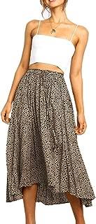 Womens Wrap Maxi Long Skirt Polka Dot Side Split High Waist Elegant Summer Casual Skirts
