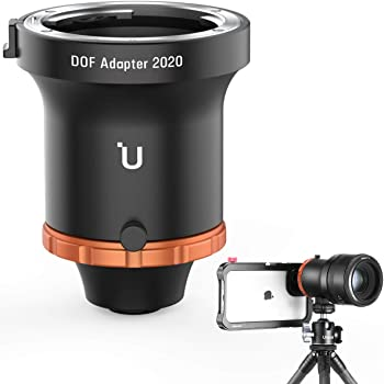 ULANZI DOF Adapter with Canon EF Mount for iPhone Samsung Google etc, Turn Your Smartphone into a Real Camera, Fits Full Frame Manual Lens