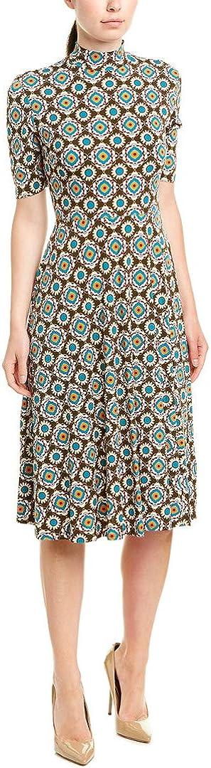 Donna Morgan Women's Matte Jersey Printed Mock Neck Dress