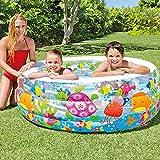 Piscina Inflable para Bebé Inicio Grande Engrosamiento Baño De Los Niños Al Aire Libre Piscina para Niños Multi-colored-152X56cm