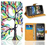 HTC Desire 620 Handy Tasche, FoneExpert® Wallet Hülle Flip Cover Hüllen Etui Ledertasche Lederhülle Premium Schutzhülle für HTC Desire 620 (Pattern 5)