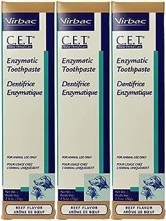 Virbac Dental Chews CET201-3 Beef Toothpaste (3 Pack), 2.5 oz