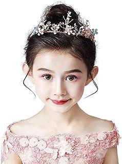RKY Ragazze Corona, monili della Fascia Crystal Crown Copricapo Principessa Girl Corona Rosa tornante Ragazza Regalo di Co...