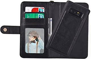 Protective Case Compatible with Samsung Compatible Samsung Galaxy Note 8 PU Detachable Horizontal Flip Protective Leather Case with Card Slots Wallet Photo Frame Lanyard Phone case (Color : Black)