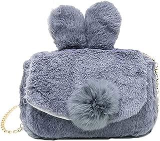 BKROOM Autumn and Winter Women's Bags, Plush Shoulder Bags, Wild Messenger Bags, Cute.