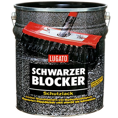 Lugato Schwarzer Blocker Schutzlack 5 l - Bitumenanstrich für Dach und Keller
