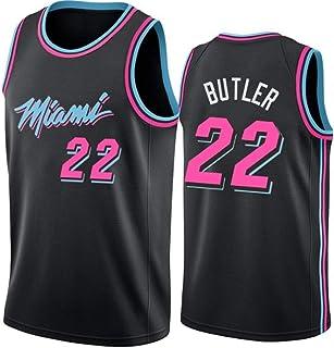 Jimmy Butler 22# Jerseys,NBA Miami Heat Men's Basketball Clothes Cool Breathable Fabric Swingman Sleeveless Vest Top Cloth...