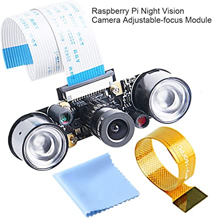 GeeekPi Night Vision Camera for Raspberry Pi 4Model B & Raspberry Pi 3 Model B B+ A+ 2 1 5MP 1080p OV5647 Sensor HD Video Webcam Camera Module - Trova i prezzi più bassi