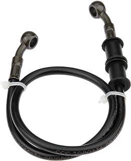 Mtsooning 1Pc Black Motorcycle Braided Steel Brake Clutch Oil Hoses Line Pipe (Oil Hose Length 60cm)