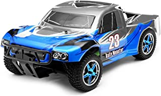Exceed RC 1/10th 2.4Ghz Brushless Rally Monster Electric RTR Racing Truck (AA Blue)