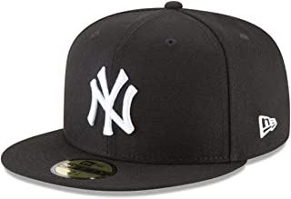 New Era 59Fifty Hat MLB Basic New York Yankees Black/White Fitted Baseball Cap