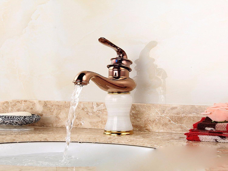 AJUNR-Basin Mixer pink gold Antique Bathroom Lift-Mixer Tap