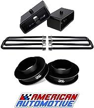 "American Automotive Compatible 1999-2007 Silverado Lift Kit 2WD 3"" Front Spring Spacers + 2"" Rear Blocks Made Road Fury Se..."
