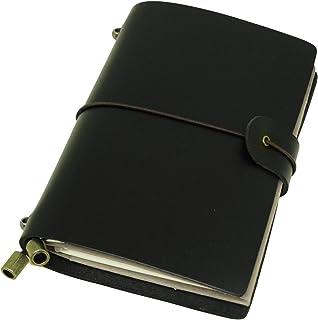 手帳 革 本革 パスポートサイズ ノートカバー トラベラーズ (ブラック)