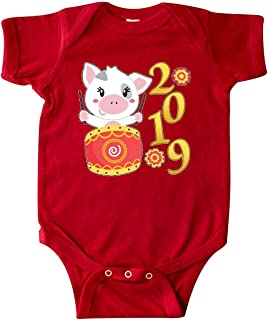 inktastic - 2019 Year of The Pig- Cute Drum Infant Creeper 33197