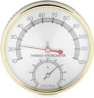 Thermomètre et hygromètre 2 en 1 - Accessoire de sauna - Accessoire de sauna chaud - Étanche et résistant à l'humidité - A...
