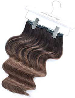 ABH AmazingBeauty Hair - AmazingBeauty Luxury Remy Balayage Clip Extensions Human Hair Extensions Clip on, Full Head 140 Gram, 7 Pieces with 18 Clips, B2-6 Dark Brown to Chestnut Brown, 20 Inch