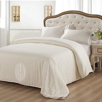 THXSILK Silk Comforter for Spring and Fall with 300TC Cotton Shell, Silk Filled Comforter, Silk Quilt, Silk Duvet -Ultra Soft, Light Weighted- 100% Top Grade Silk, Queen Size
