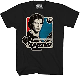 Han Solo I Know Princess Leia Millennium Falcon Funny Humor Pun Mens Adult Graphic Tee T-Shirt