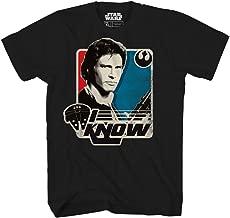 Star Wars Han Solo I Know Princess Leia Millennium Falcon Funny Humor Pun Mens Adult Graphic Tee T-Shirt