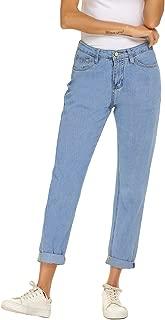 ZHENWEI Women's Jeans High Waist Vintage Relaxed Fit Straight Leg Denim Pants
