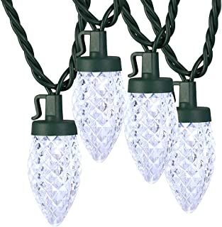 Brizled Patio String Lights, 16ft Outdoor String Lights with Faceted 25 LED C9 Bulbs,