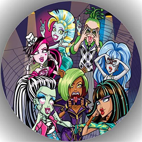 Fondant Tortenaufleger Tortenbild Geburtstag Monster High T5
