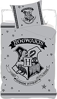 BrandMac Harry Potter - Juego de cama (funda nórdica de 140 x 200 cm y funda de almohada de 63 x 63 cm, algodón)