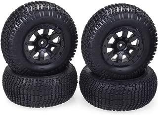 1/10 Short Course Truck RC Tires 12mm Hex RC Wheels Set for Traxxas Slash HPI VKAR Redcat HSP LRP 4PCS Black