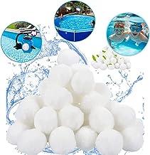 Qelon Bolas de filtro, 700 g, filtro de arena, alternativa para 25 kg de arena de filtro, accesorios de repuesto para filtro de piscina