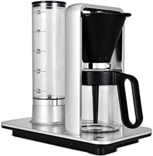 Wilfa Precision Automatic Coffee Brewer (WSP-1A), Detachable Water Tank, Precise Temperature and Water Control, Hot Warming Plate, Glass Carafe, Pour Over, Aluminum