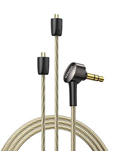 wholesale UGREEN 3.5MM Earphone Replacement Wired Balanced Earphone Cable HiFi Sound Detachable Headphone Cable Replacement Compatible with BL03 V80 KZ ZS10 PRO ZS10 AS10 ZS6 ZST ZSR outlet sale TRN 4 online Feet (2 Pin 0.78mm) online sale