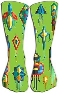 Tonesum, Hombres Mujeres Mujeres Novedad Divertidos Calcetines de tripulación 50 CM Flying Kite Toy Sky Snake Serpent Dragon Niños Juguete Silueta colorida