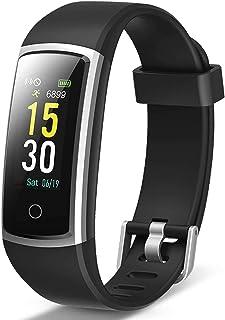 Lintelek Pulsera Actividad, Reloj Inteligente con Medidor de Ritmo Cardíaco Presión Arterial, Reloj Deportivo Compatible a...