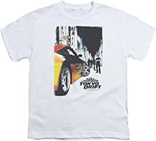 Fast & The Furious Tokyo Drift Action Racing Movie Poster Big Boys Youth T-Shirt