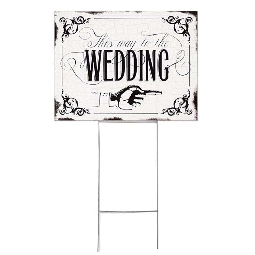 Hortense B. Hewitt This This Way to the Wedding Yard Sign, 22.5 x 16.5-Inches,