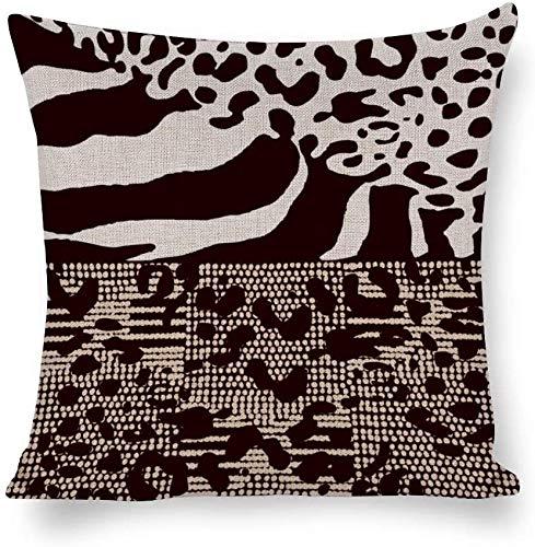 BONRI - Federa in cotone e canapa leggera e traspirante, antistatico, motivo zebrato colorato graffiti per l'inaugurazione della casa, matrimonio, San Valentino, 45 x 45 cm