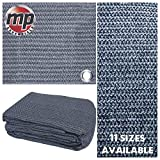 MP Essentials Tapis de sol tissé pour tente et auvent, anti-moisissure et résistant aux intempéries - Bleu/gris, bleu et gris, 2.5 x 7m