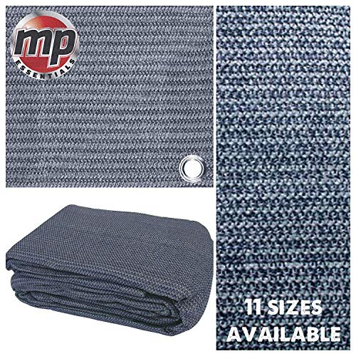 MP Essentials – Carpa de suelo tejida resistente a la intemperie y a la putrefacción, color azul y gris