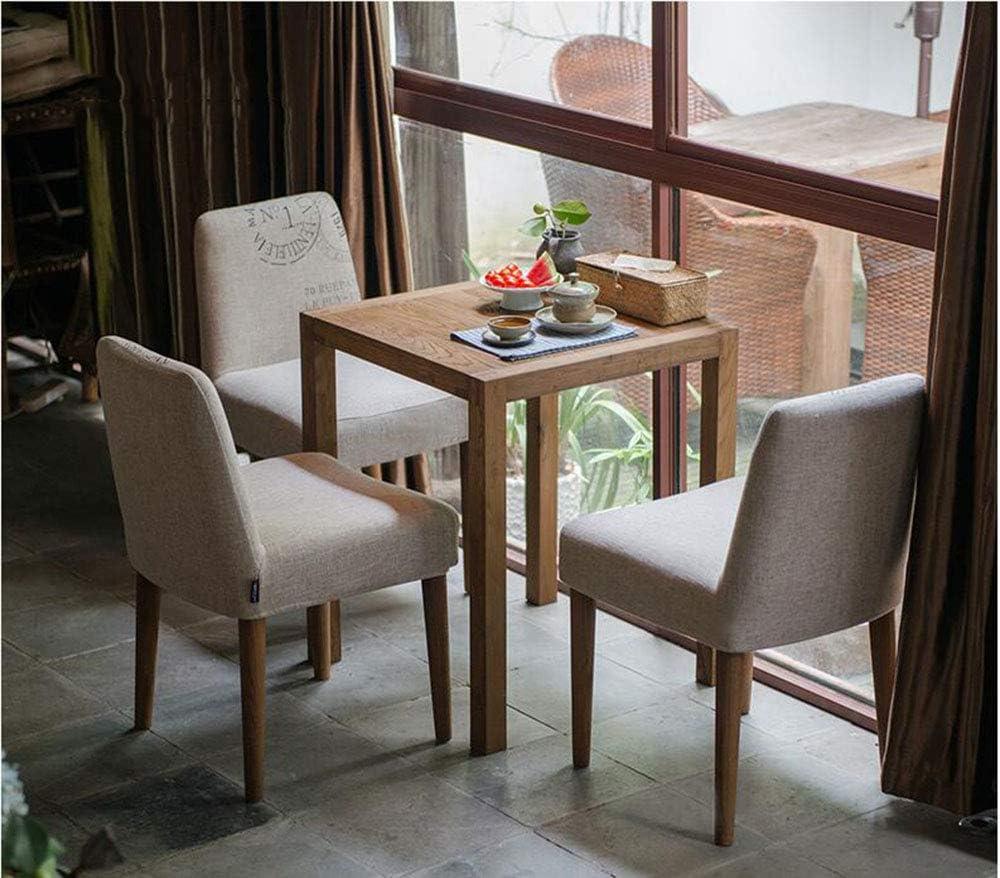 LJFYXZ Chaise de salle à manger en bois massif, restaurant de l'hôtel Conversations de loisirs Dossier pliable Blue Stripes On Gray