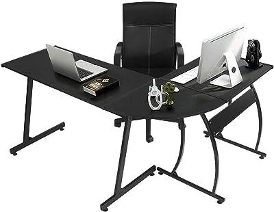 GreenForest L-Shape Corner Computer Office Desk PC Laptop Table Workstation  Home Office 3- 001a9666d2