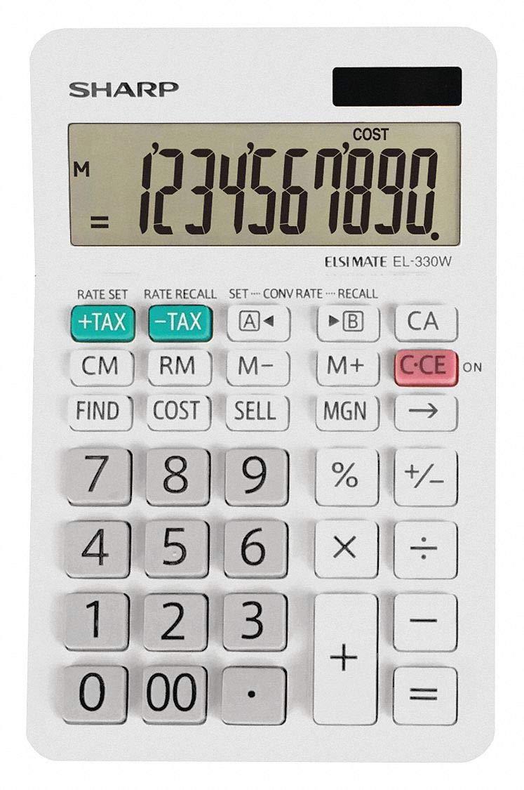 Sharp Desktop Calculator Max 81% OFF LCD Ranking TOP13 10 Display Digits