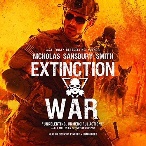 Extinction War     The Extinction Cycle, Book 7              By:                                                                                                                                 Nicholas Sansbury Smith                               Narrated by:                                                                                                                                 Bronson Pinchot                      Length: 12 hrs and 1 min     1,278 ratings     Overall 4.8