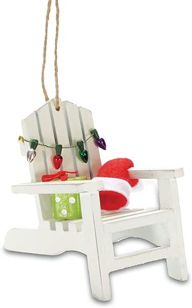 Cape Shore Coastal Beach Adirondack Chair Christmas Tree Holiday Ornament