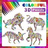Goorder 3D Puzzle ab Kinder, 4 Stück Bastelset für Mädchen Jungen, Basteln ab 6 7 8 9 10 Jahre, Kinderspielzeug Puzzle, Creative Geschenk für Geburtstag Weihnachten