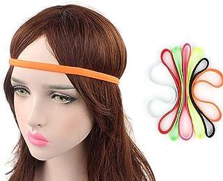 444e2e6312d566 Ogquaton Haarband Schweißband Sport Stirnbänder Elastische Stirnbänder  Rutschfeste Haarband für Jogging Fußball oder Yoga 4 Stück