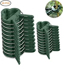 Plant Clips For Climbing Plants, DokFin 20 Piece Green Trellis Clips (Small & Large), Vegetable Support Clamps For Tomatoes, Rose, Works With Bamboo Stake, Tomato Cage, Plant Stems, Stalks, Vines