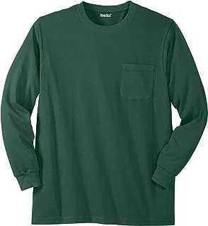 Men's Big & Tall Lightweight Long-Sleeve Crewneck Pocket T-Shirt
